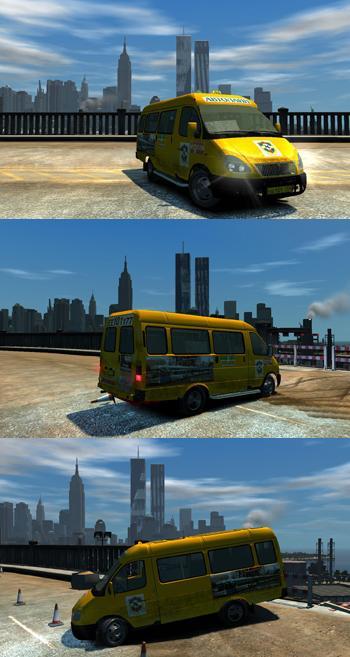 ГАЗель 2705 Такси для GTA 4